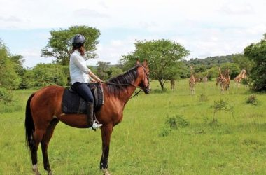 Horse riding lake Mburo national park