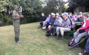 Gorilla tracking Briefing at the Park Head quarters